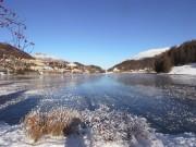 gefrorener See in St. Moritz