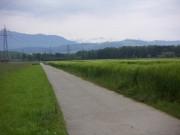 Sins, Richtung Alpenkamm