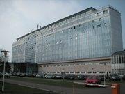 Hotel Baltic, Zinnowitz, unser Heim für eine Woche. Oberste blaue Etage, etwa in der Mitte