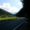 Blick in die Dolomiten, Auffahrt zum Karerpass