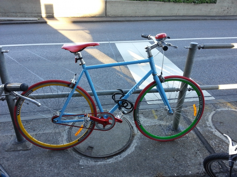 farbiges Rad