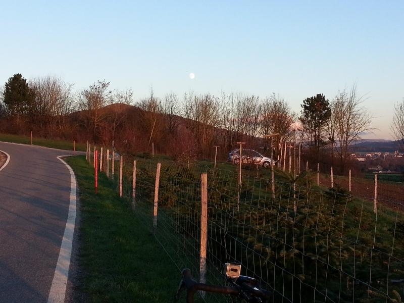 aufsteigender Mond