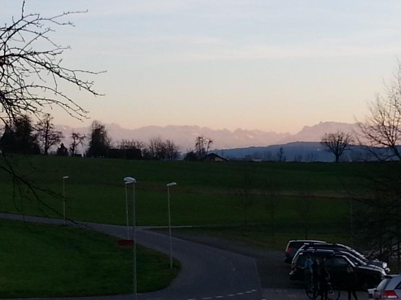 Alpenkamm im Abendlicht