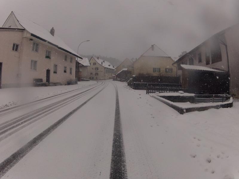 Veltheim im Schneegestöber