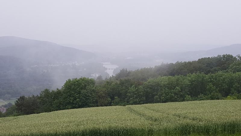 Aaretal in Nebel und Regen