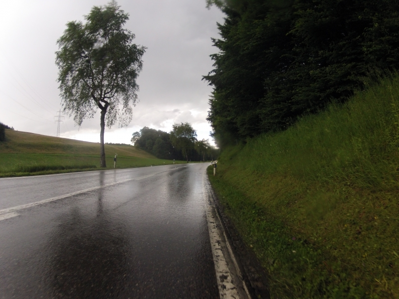 im Gewitterregen