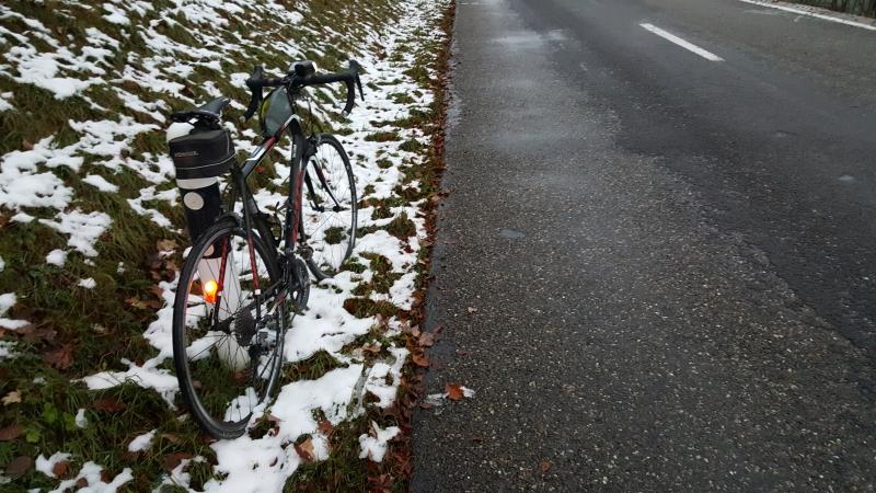 Erster Schnee auf dem Rotberg