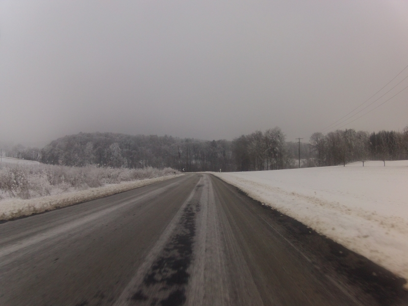Eisige Kälte auf dem Bözberg
