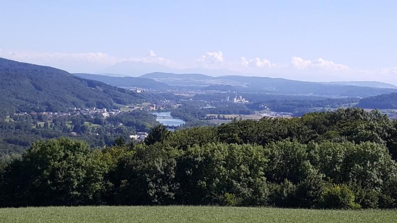 Vom Bözberg (Vier Linden) ins Aaretal hinunter