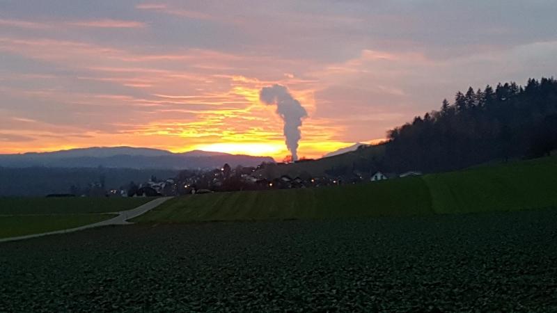 Blick nach Westen, oberhalb Auenstein