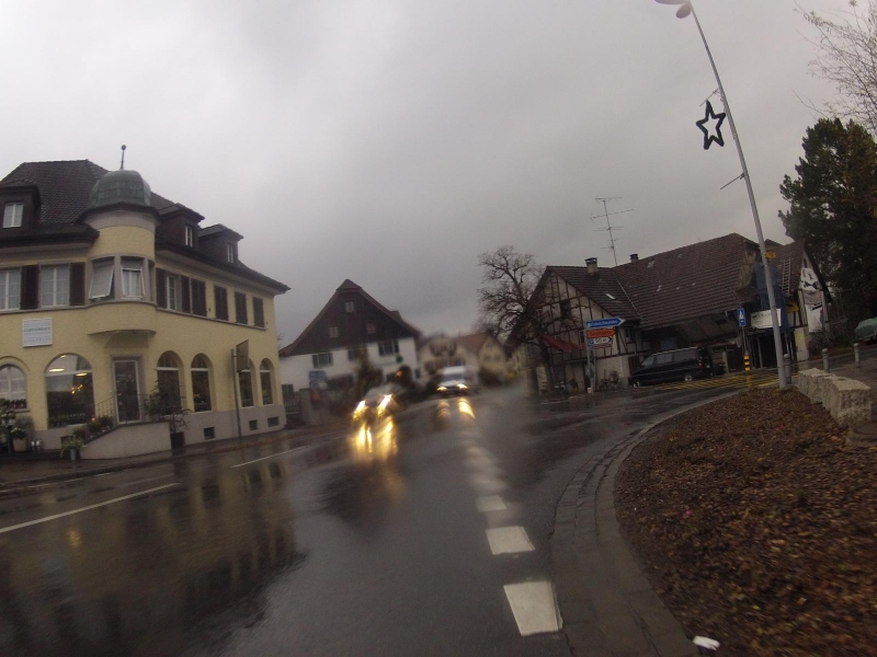 Fahrwangen im Seetal, es regnet