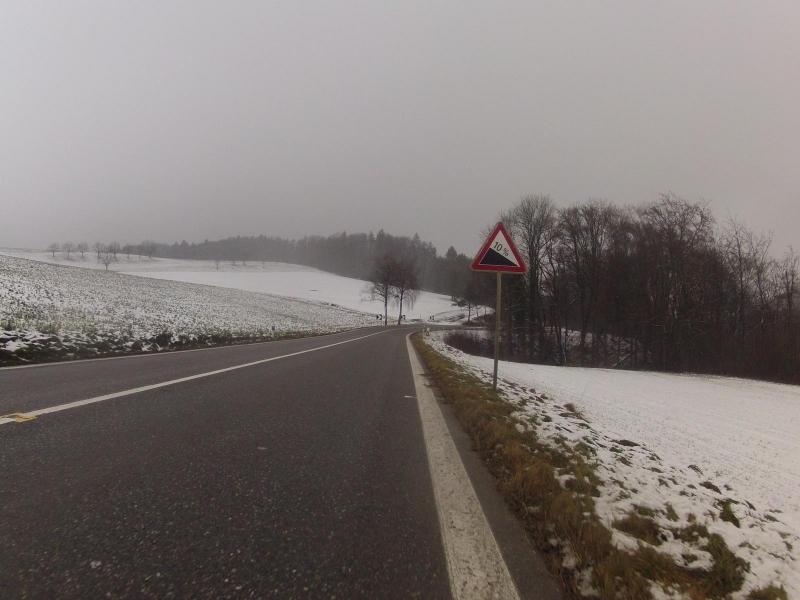 Bözberg knapp unter der Nebelgrenze