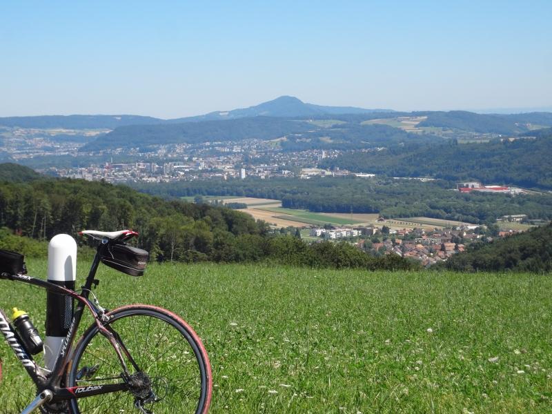 Aussicht vom Bözberg über Brugg zur Lägern