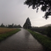 Im Gewitterregen unterwegs