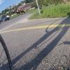 Schattenbild während Plattfuss-Reparatur