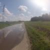 Wasser auf dem Radweg