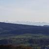 Blick zu den Alpen, von der Strasse Baldingen - Lengnau