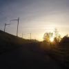Gegenlicht kurz vor Lenzburg