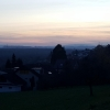 Abendliches Aaretal, gesehen oberhalb Auenstein