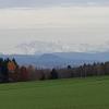 Zwischen Reusstal und Bünztal, Blick zu den Alpen