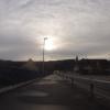 Winterliche Sonne über Brugg und Windisch