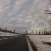 oberhalb Sins, unterwegs über den Schneefallgrenze