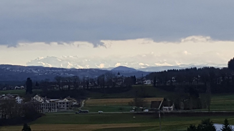 Föhnlage zum Alpenkamm