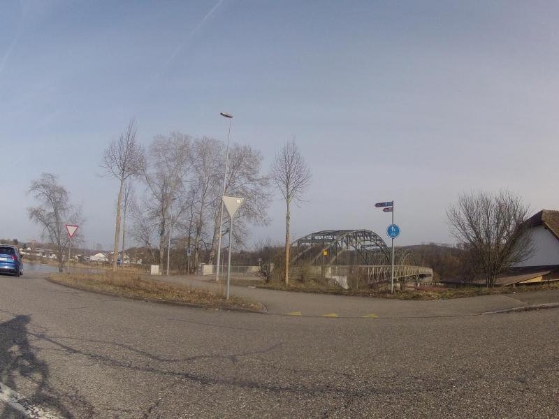 Brücke über die Aaremündung in den Rhein