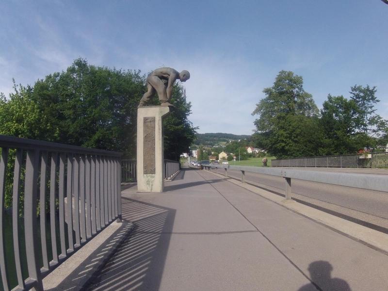 Figur auf der Limmatbrücke