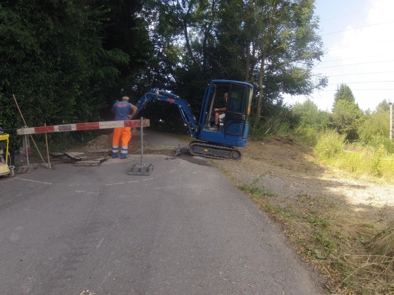 Baustelle auf dem Radweg