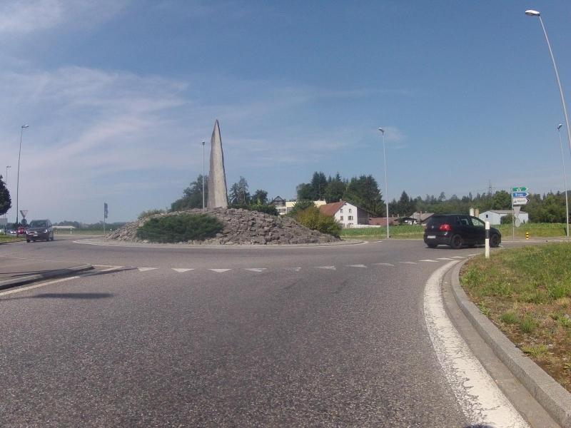 Strassenkreisel in Mägenwil