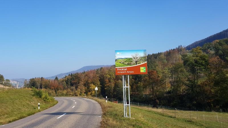 Kantonsgrenze Baselland / Aargau, oberhalb Wegenstetten
