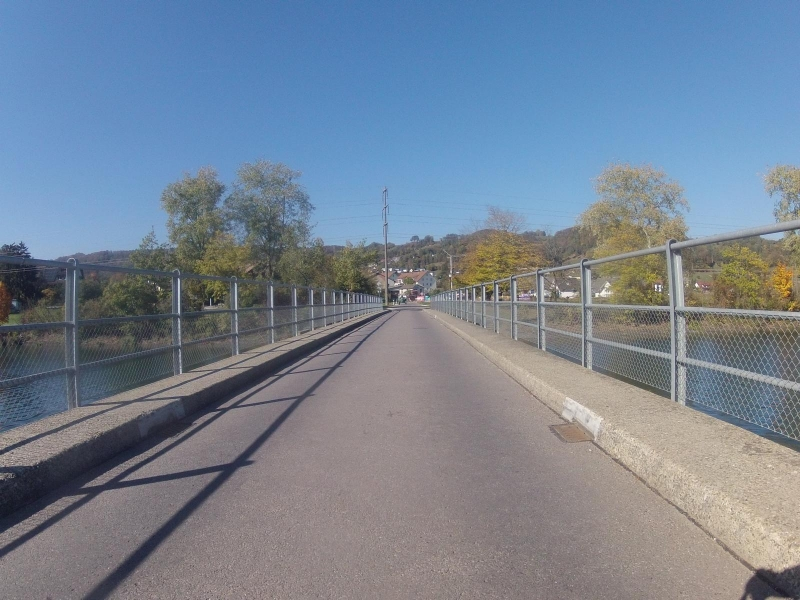 Brücke über den Aarekanal bei Villnachern