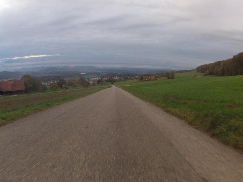 Blick ins Reusstal, während der Abfahrt vom Heitersberg