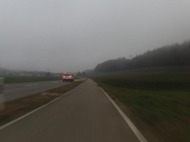 Radweg nach Riniken