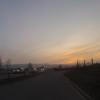 Abenddämmerung über dem Birrfeld