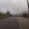 Blick ins Schenkenbergertal, Nebel und Schneeregen