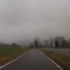 Blick in Richtung Bürensteig, Nebel und Schneeregen