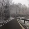 winterlicher Radweg bei Mülligen