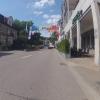 Geschmückte Hauptstrasse für den Jugendfestumzug