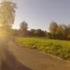 Radweg bei Mellingen im Gegenlicht