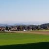 Blick über das oberste Ende des Reusstales in Richtung der Alpen