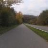 Auf dem ehemaligen Bahntrasse von Hilfikon nach Villmergen hinunter