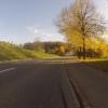 Herbstlicher Radweg bei Niederrohrdorf