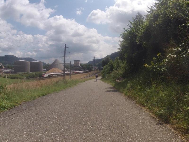 Radweg bei Rekingen