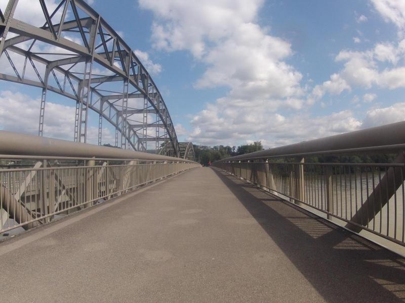 Aare mündet in den Rhein