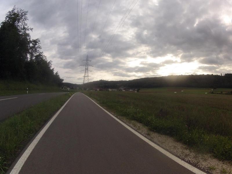 Radweg von Rüfenach nach Riniken