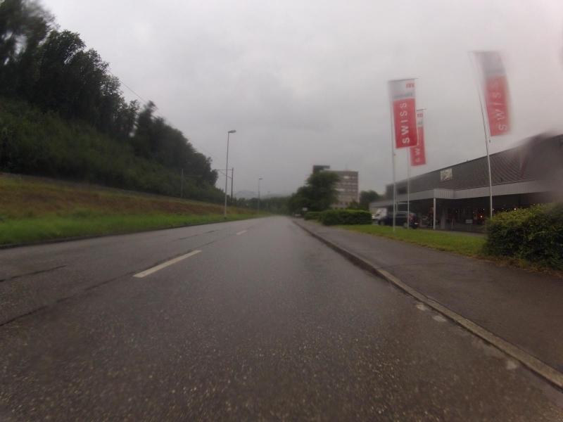 Industrie-Quartier im Regen