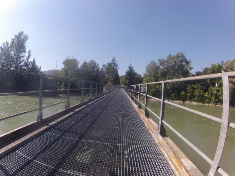 Radweg bei Mellingen über die Reuss