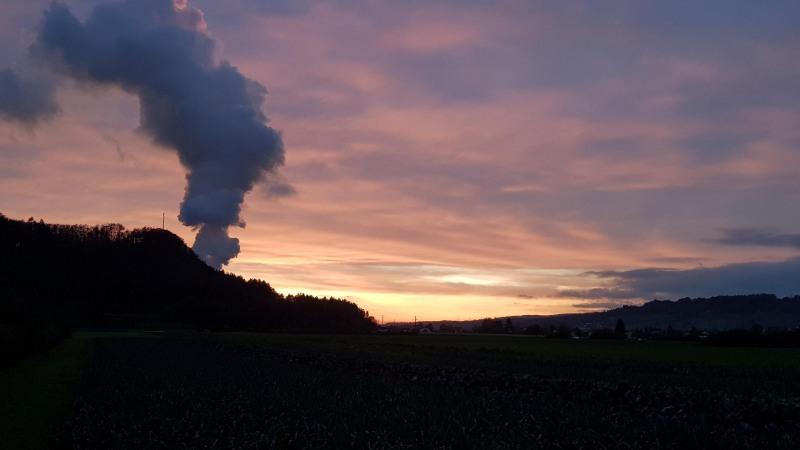 Dämmerung über dem Rheintal
